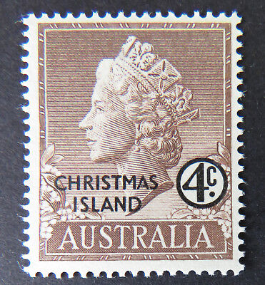 1958 Christmas Island Stamps - Queen Elizabeth II Definitives - Single 4c MNH