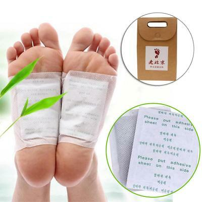 10 Pairs Good Detox Foot Pads Patch Detoxify Toxins Adhesive Keeping Fit UK HY