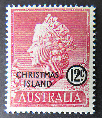 1958 Christmas Island Stamps - Queen Elizabeth II Definitives - Single 12c MNH