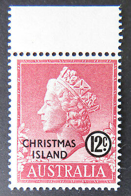 1958 Christmas Island Stamps - Queen Elizabeth II Definitives - Single 12cTabMNH