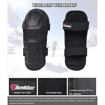4pcs Elbow Knee Protector Armor Guard Pads Black for Motorcycle Offroad Racing