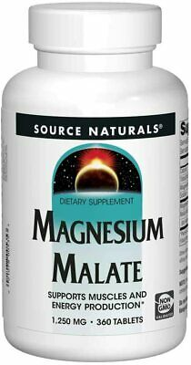 Source Naturals Magnesium Malate, 1250mg x 360 Tablets