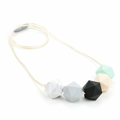 Lofca Silicone Teething Necklace for Mom to Wear-Great Baby Teether Toys-BPA
