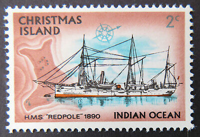 1972 Christmas Island Stamps - Sailing Ships Definitives - Single 2c MNH