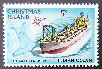 1973 Christmas Island Stamps - Sailing Ships Definitives - Single 5c MNH