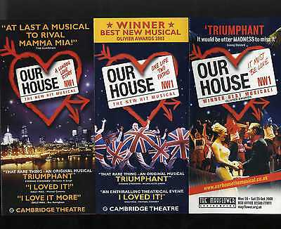 OUR HOUSE MADNESS MUSICAL - 3 x DIFFERENT FLYERS SET 2 - SUGGS STIFF TWO 2 TONE