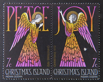 1972 Christmas Island Stamps - Christmas - Peace & Joy - Set 2 x 7c-Marked MNH