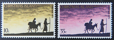 1975 Christmas Island Stamps - Christmas - Mary & Joseph - Set of 2 MNH