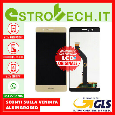 Lcd Display Schermo Touch Screen Cellulare Huawei P9 Lite Gold Oro Assemblato