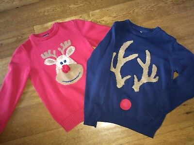2 Boys Christmas Jumpers Age 10