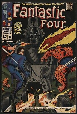 Fantastic Four #80 Vs The Totem Who Walks! Pure Jack Kirby Madness. Great Value