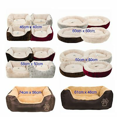 Luxury Extra Soft Dog Cat Pet Puppy Kitten Sleeping Bed Cozy Warm Cushion House