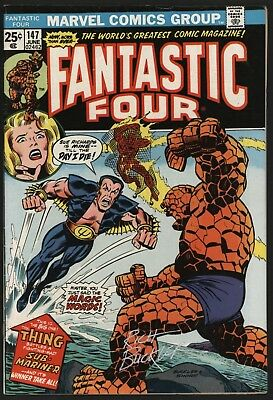 Fantastic Four #147 Signed By Rich Buckler. V Sub-Mariner  Glossy Cents White Pg