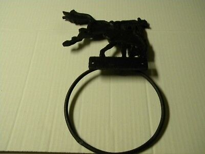 Cast Iron Man On Horse Towel Ring Holder