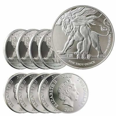 2018 Roaring Lion Silver 1 oz Niue Coin | Lot of 10 Direct From Mint Tube