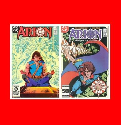 ☆Bent Gd/Fn(Vg)Dc 2 Comic Book Lot: Arion Lord Of Atlantis(1982)#21 33 Bag+Board