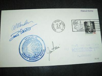 APOLLO 15 launch KSC orig.signed Crew, SPACE