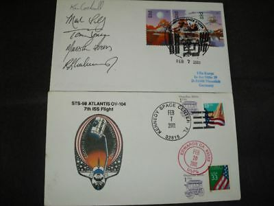 STS 98 launch/landingset orig.signed Crew, SPACE
