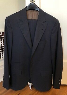Brunello Cucinelli Suit - EU 46 - US 36R - Navy Blue - New with Tags