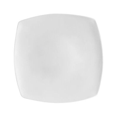 CAC China Clinton Flat Square Plate, 10 1/2""