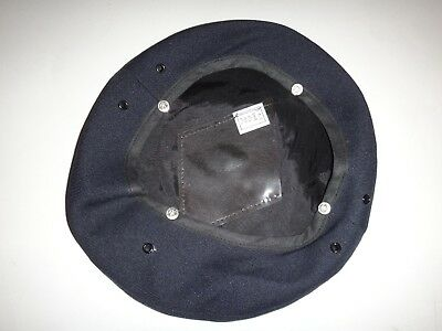 Dark Blue MILITARY SERVICE CAP COVER For Small Size 6-1/2 to 6-7/8 *Never Used*
