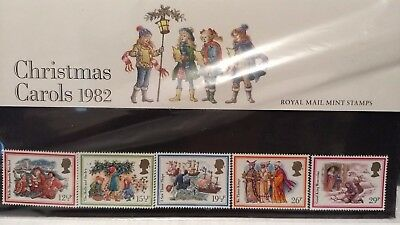 Presentation Pack Gb Stamps: Christmas Carols 1982 Mint