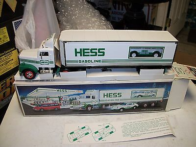 Mint 1992 Hess Toy Truck 18 Wheeler and Racer in Original Box with Inserts NIB