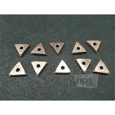 """10 Pieces of Carbide Threading Tool 002A422E Inserts, 0.25"""" Depth x 1.05"""" Sides"""