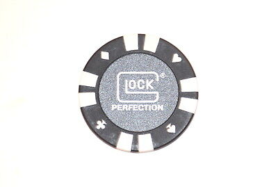 Glock Perfection Gen 5 Poker Chip/coin White 17 19 22 23 26 27 34 35 36 41 42 43