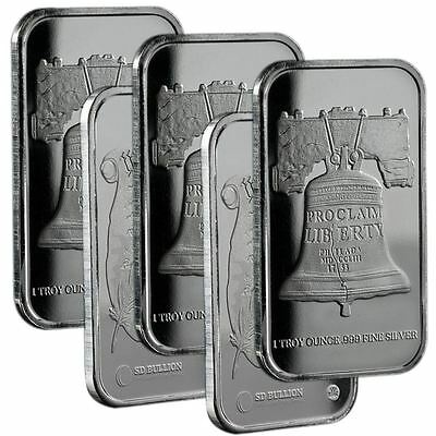 Republic Metals 1 oz Silver Bar SD Bullion Proclaim LibertyBar | Lot of 5