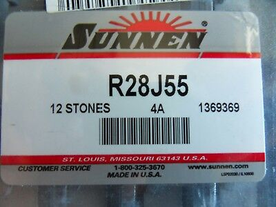 NEW SUNNEN R28-J55  220g HONING STONE SET (12 Pieces) Free US Shipping