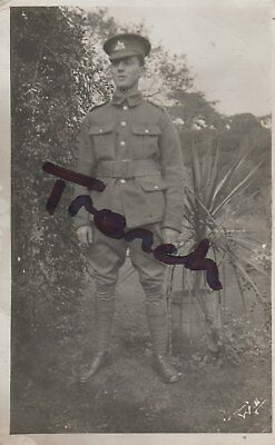 Lincolnshire Regiment Great war young soldier, super clear postcard.