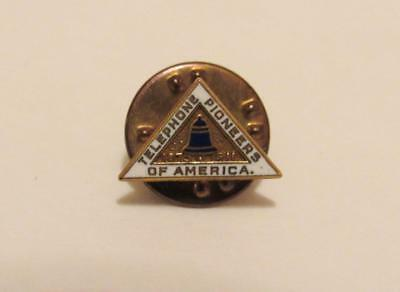 1911 Bell Telephone Tie Tac Pioneers of America enamel Employee Award lapel pin