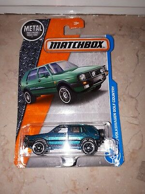 Matchbox VW Golf Country 4x4 Syncro Blister Auto Modell Spielzeug Long Card