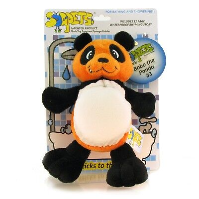 Soapets Bobo The Panda Plush Toy Soap & Sponge Holder for Bath Shower GIFT