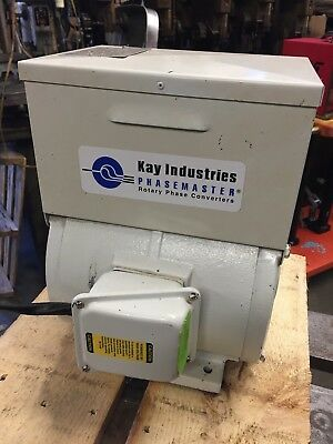 Kay Industries Rotary Phase Converter Cat# MA-0 3 HP  (No need to recondition)