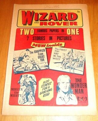 1St Ever  Wizard And Rover Joint Issue  20/1/1973