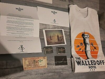 The Walled Off Hotel Lot  Banksy Collection Firts Edition  Tenner Rare