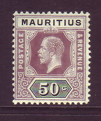 MAURITIUS. SG 200, 50c DULL PURPLE & BLACK. MOUNTED MINT.