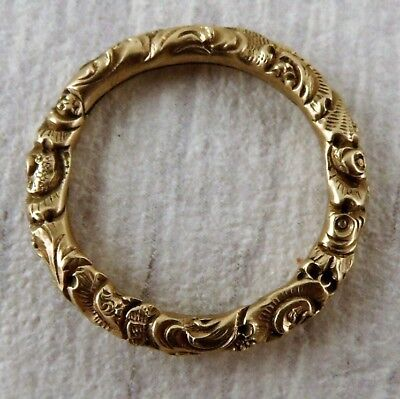 Stunning Vintage 9ct Gold Victorian Decorative Split Ring 2.2g