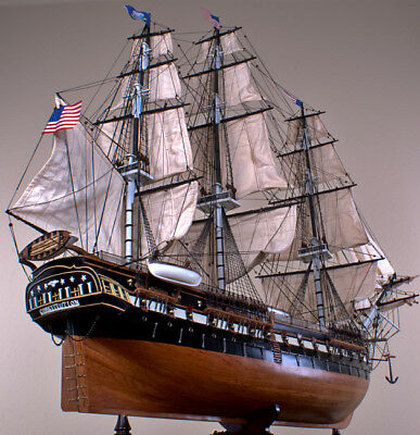 """USS CONSTITUTION 52"""" wood model ship large scaled American sailing boat"""