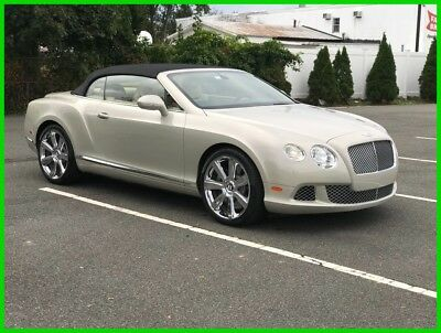 2012 Bentley Continental GT GTC Convertible 2-Door 2012 Used Turbo 6L W12 48V Automatic AWD