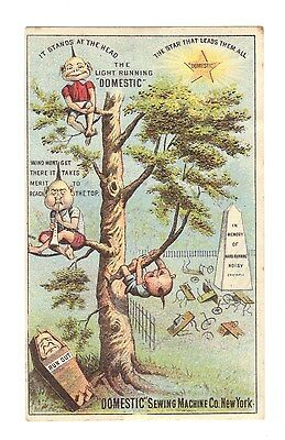 Domestic Sewing Machine Co.Trade Card Brownies in Graveyard