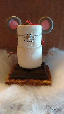 S'MORES Smores MOUSE Ornament Marshmallow Snowman Midwest CBK