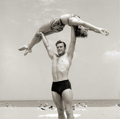Vintage SEXY DUO Negative 1950s BEACH POSE
