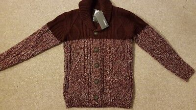 Boys Chunky Cardigan age 7-8 years new with tags