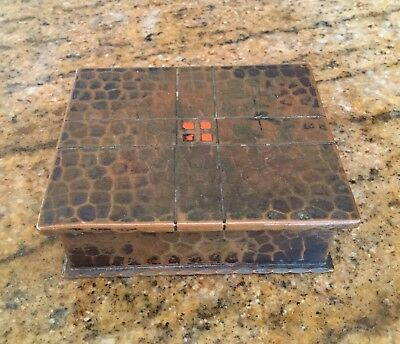 Antique Roycroft Hammered Copper Arts and Crafts Period Hinged Box