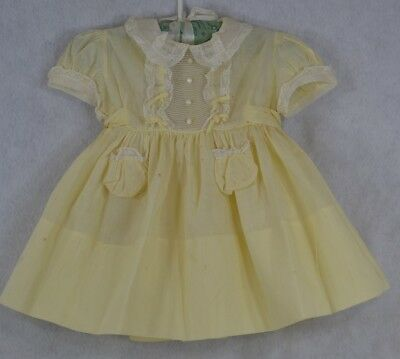 dress girls 1950 vintage very good pink dot size 2 original