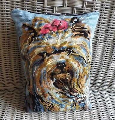 vintage needlepoint / tapestry cushion