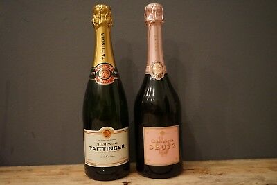 Taittinger + Deutz Rose Champagner